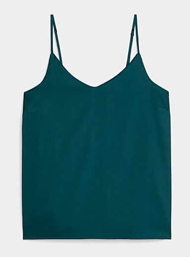 Miiyu Kelly Green Satiny lounge cami for women