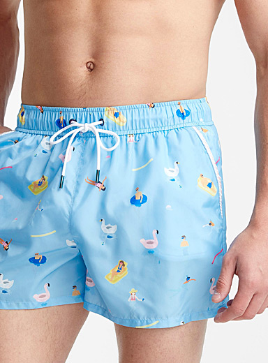 Silky swim trunk