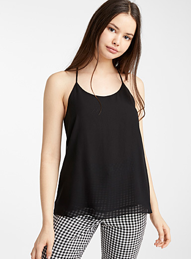 Recycled polyester racerback blouse