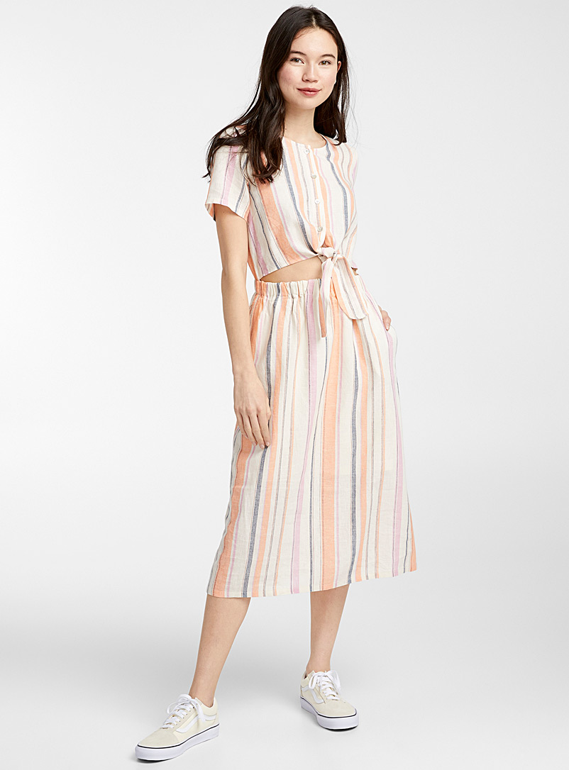 Little knot cutout midi dress