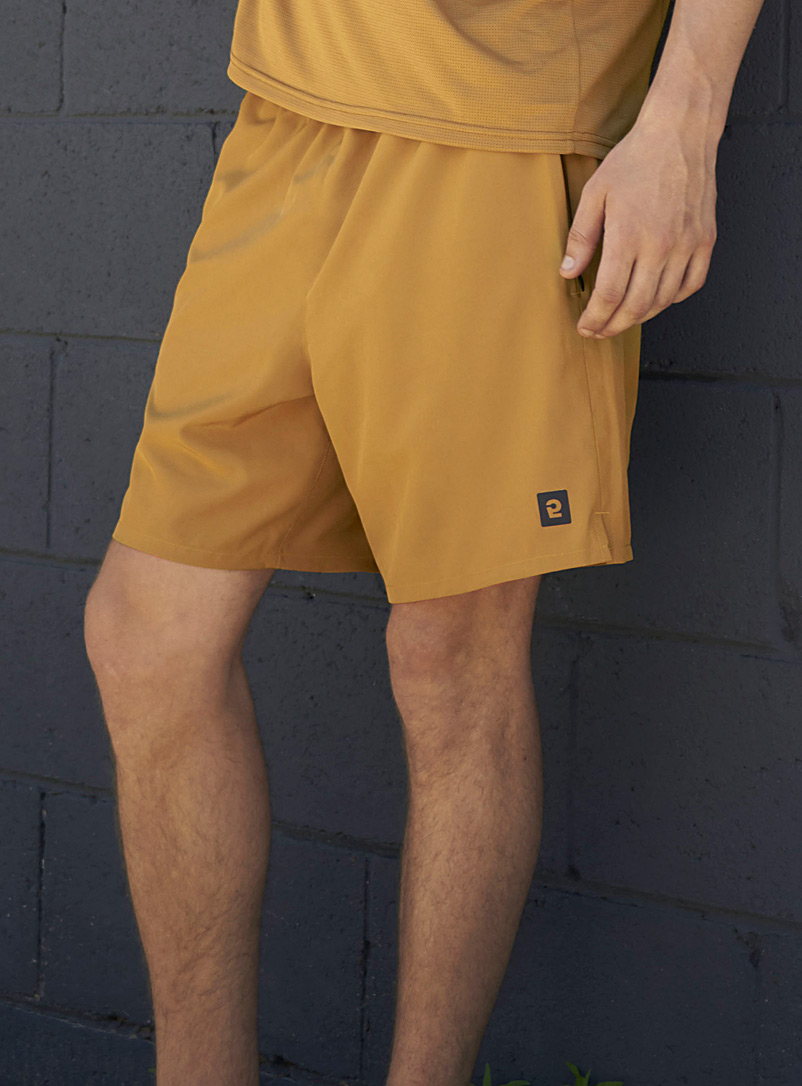 I.FIV5 Black Stretch recycled fabric short for men