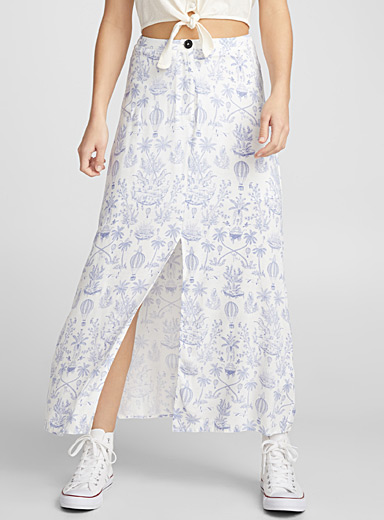 Summer countryside maxi skirt