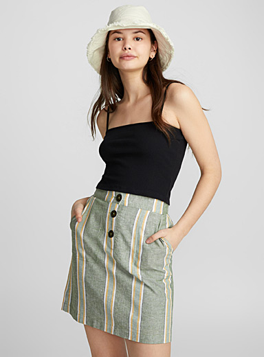 Country linen miniskirt