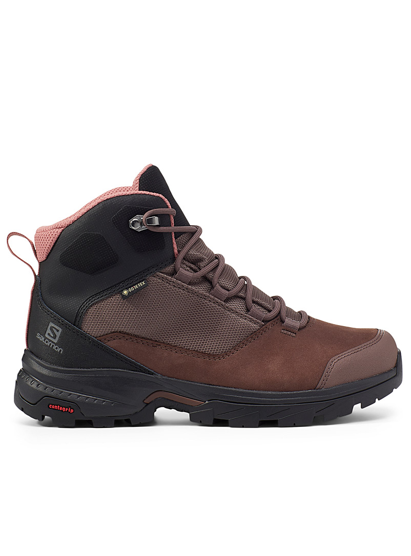 Salomon Brown Outward hiking boots for women