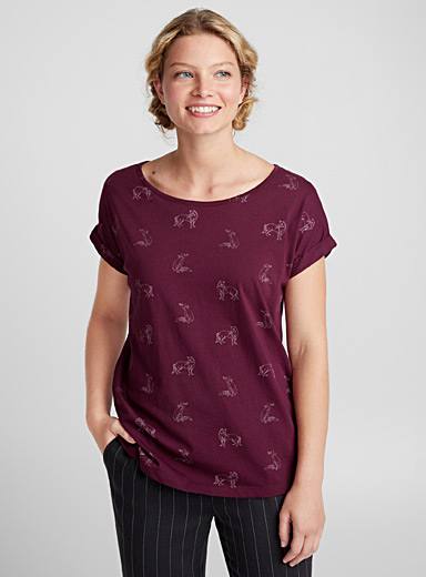Organic cotton button-back tee