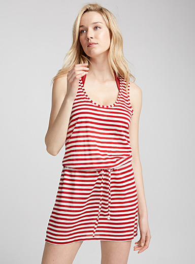 Long drawstring beach cami