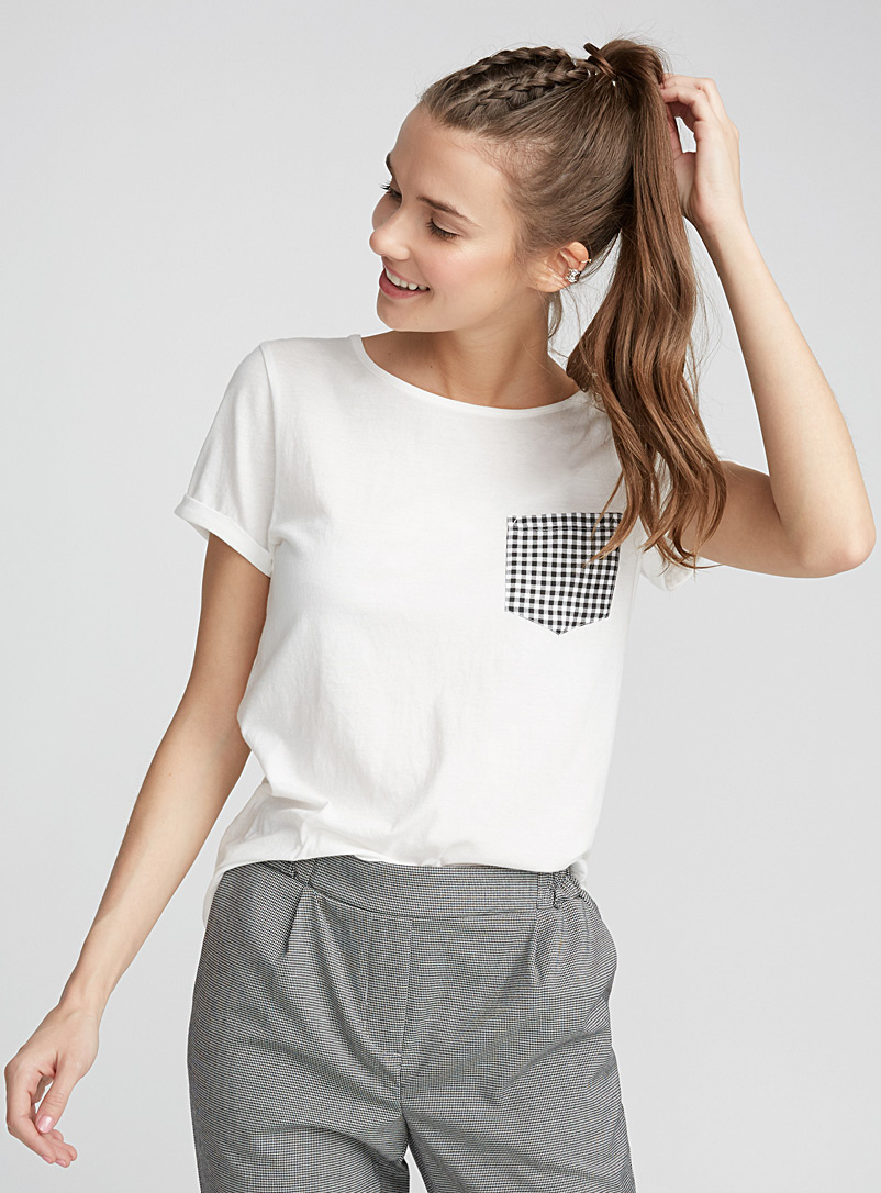 Organic cotton accent pocket tee - Short Sleeves - Assorted