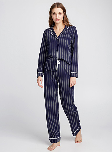 Graphic traced pyjama set