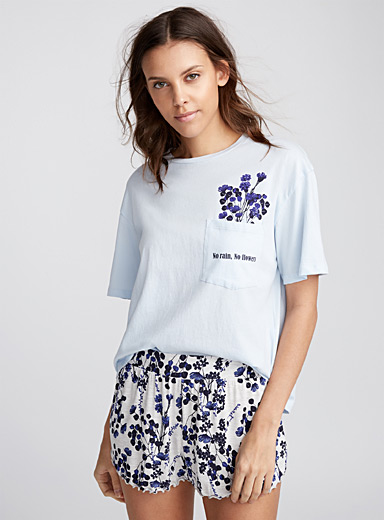 Blue bloom tee