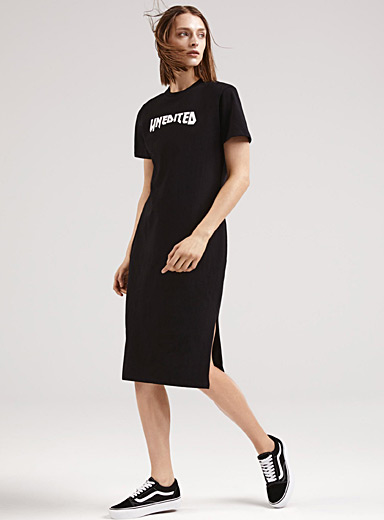 Engineered detail T-shirt dress