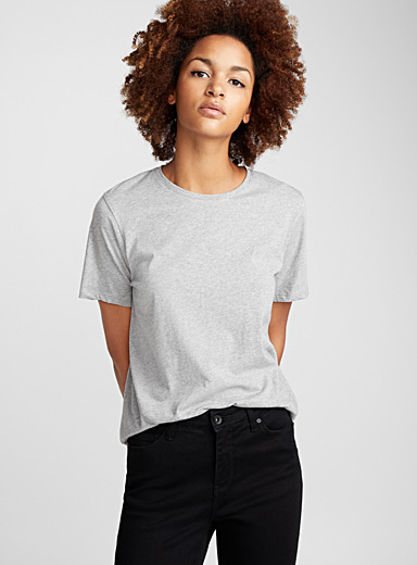 Loose organic cotton tee