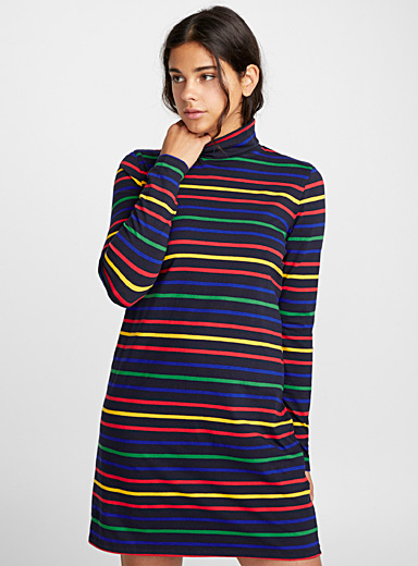 Loose turtleneck dress