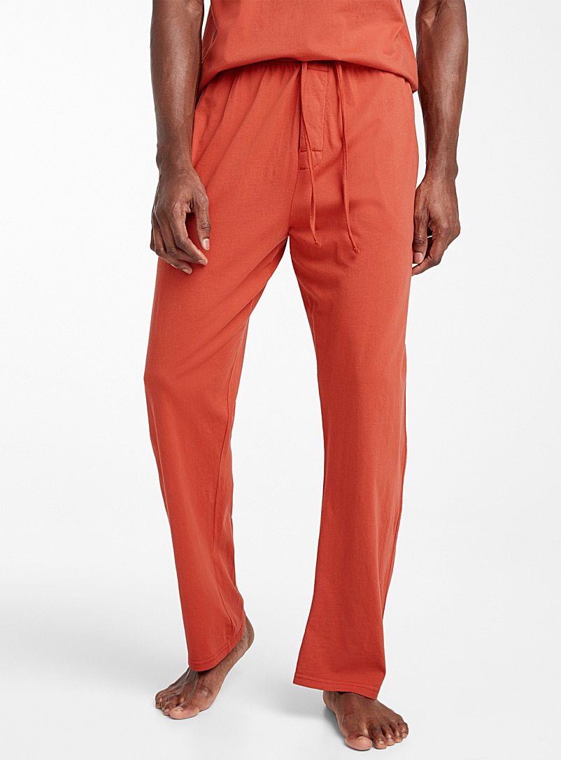Le 31 Tangerine Organic cotton basic lounge pant for men