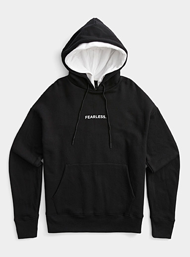 Djab Black Casual message eco-friendly hoodie for men