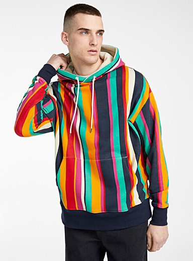 Eco-friendly pop stripe hoodie