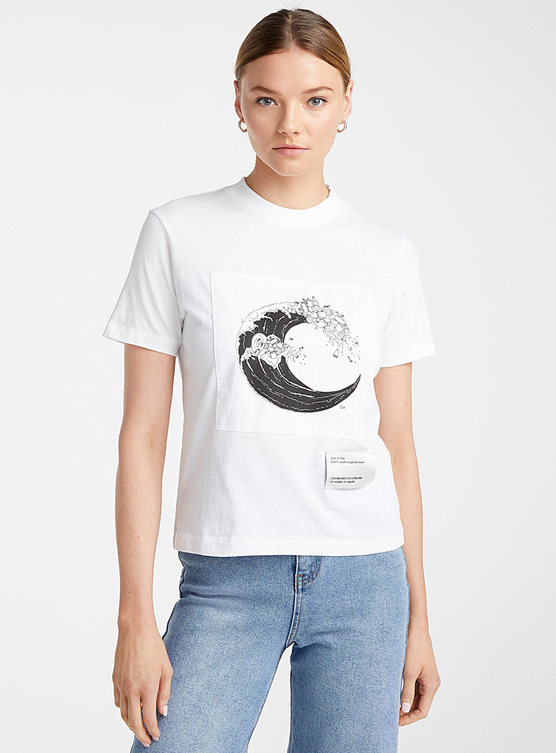 Icône White Work of art organic cotton T-shirt for women