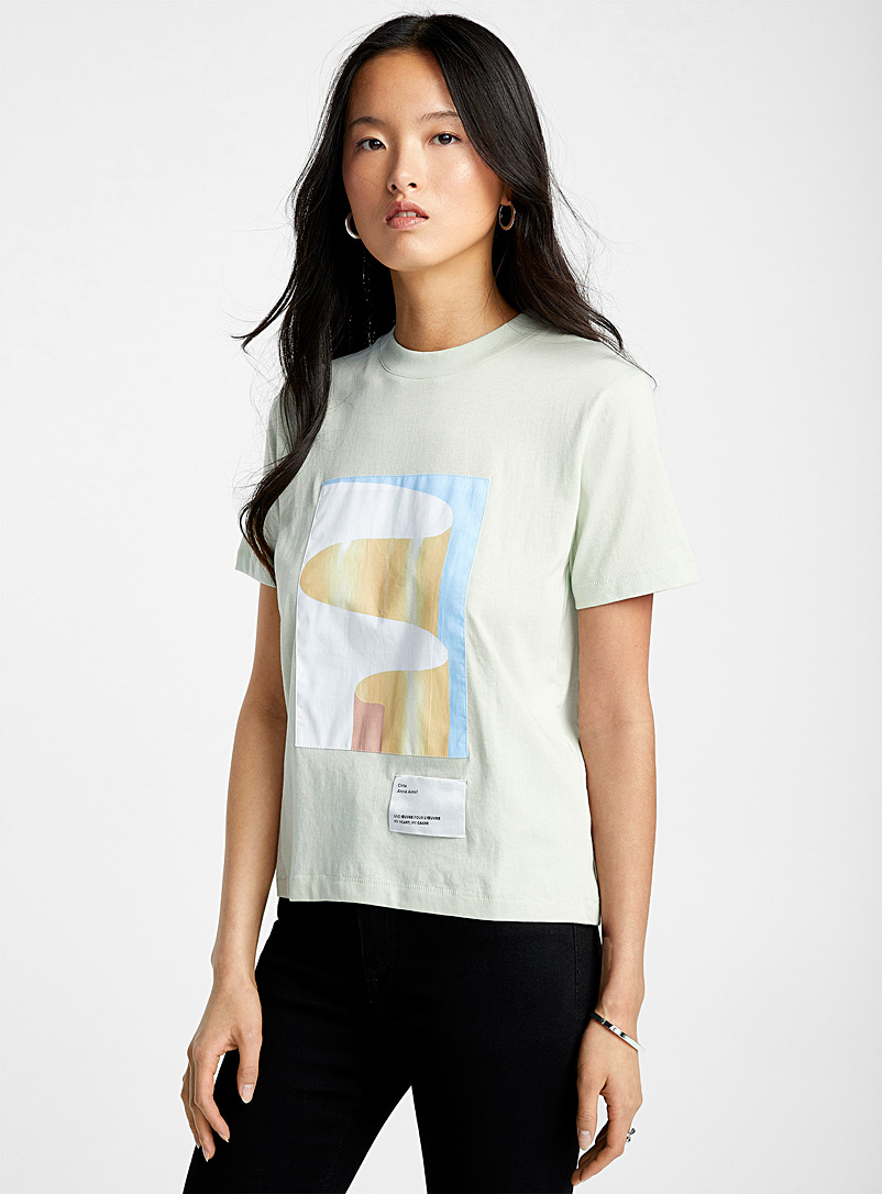 Icône Lime Green Work of art organic cotton T-shirt for women