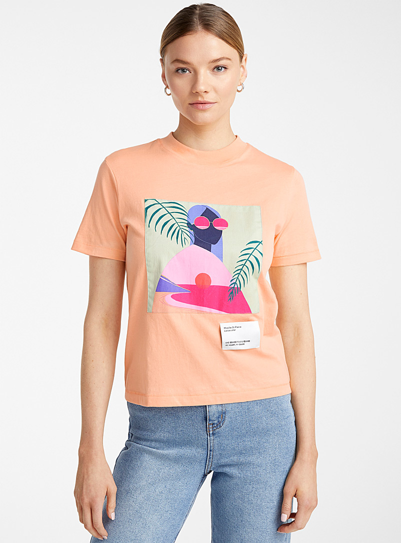 Icône Peach Work of art organic cotton T-shirt for women