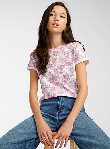 Printed organic cotton tee