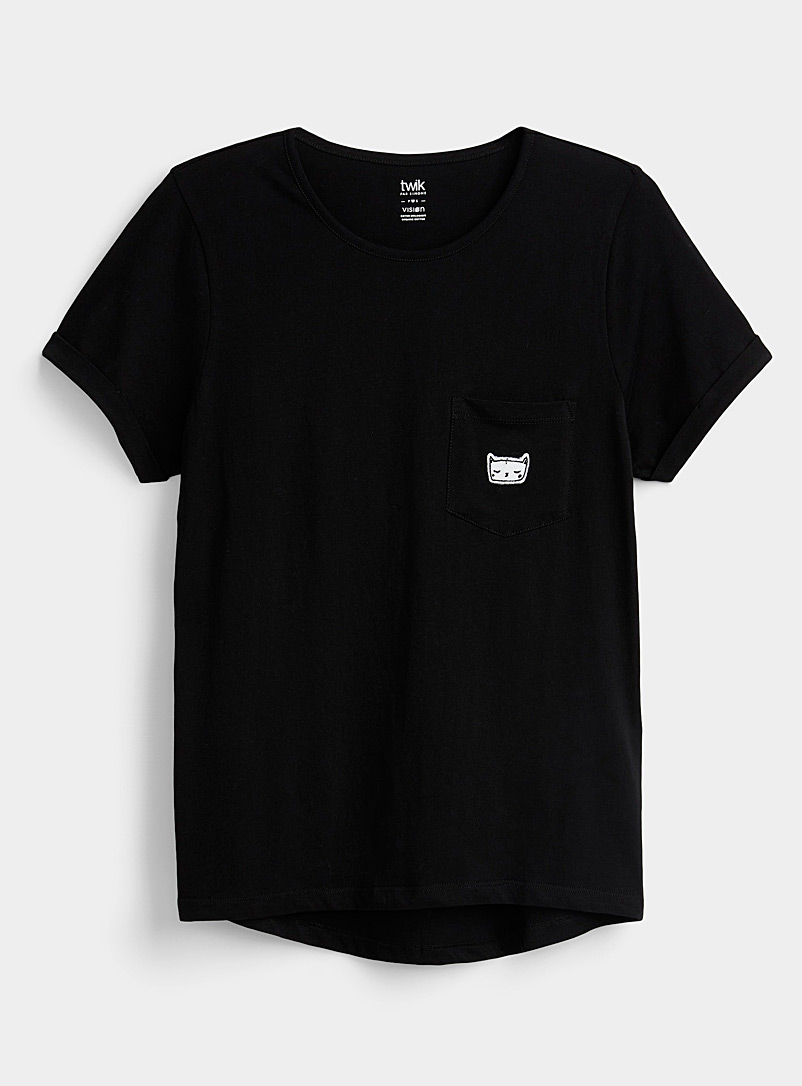 Organic cotton printed pocket tee