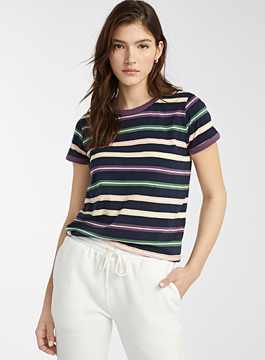 Organic cotton accent trim tee