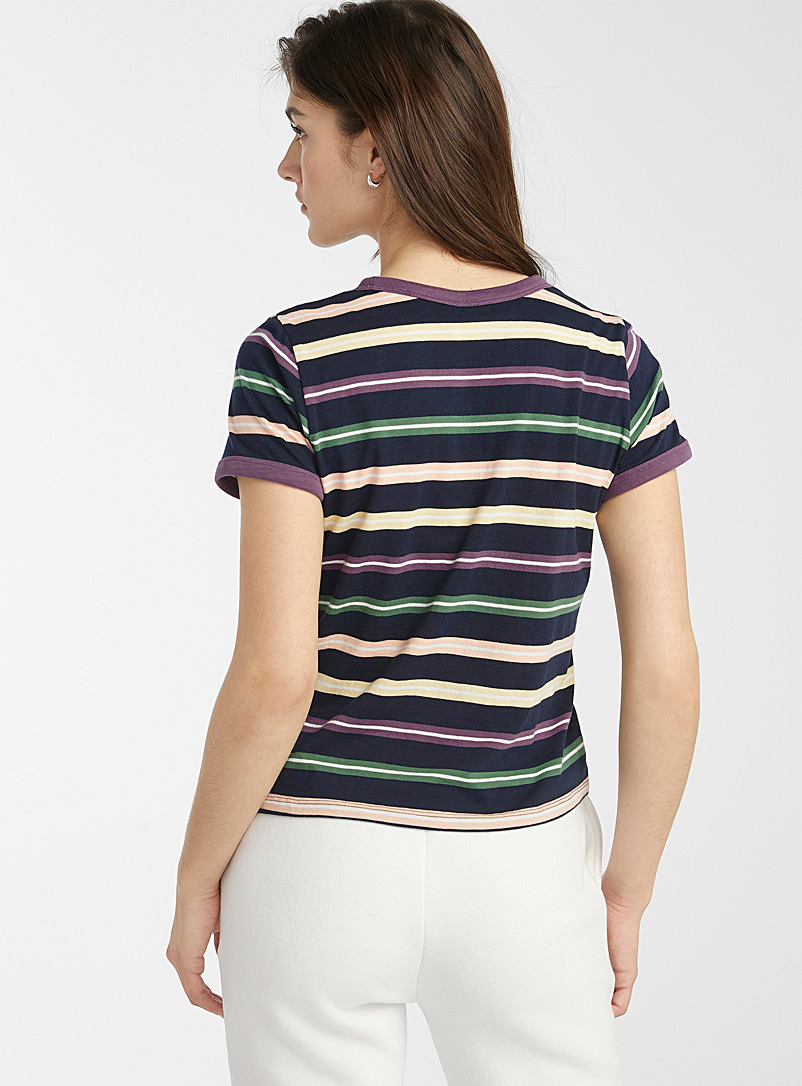Twik Assorted Organic cotton accent trim tee for women