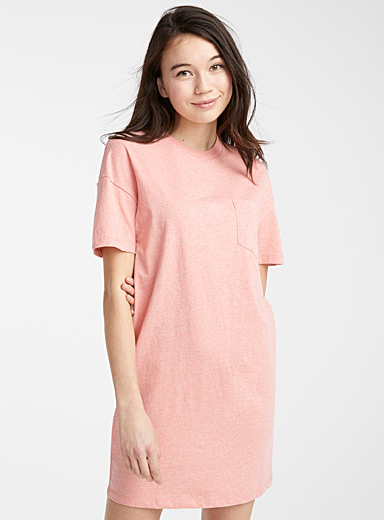 Organic cotton nightgown with pocket