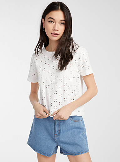 Le t-shirt broderie anglaise coton bio