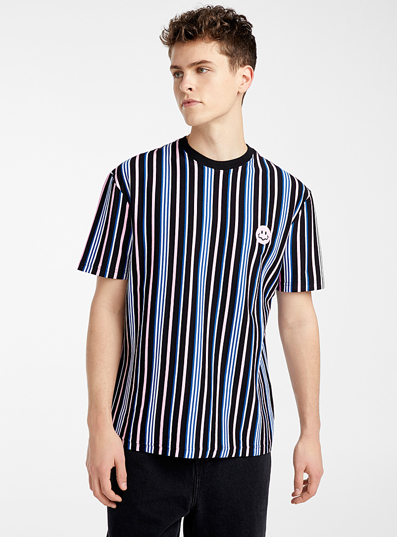 Djab Oxford Organic cotton striped patch T-shirt for men