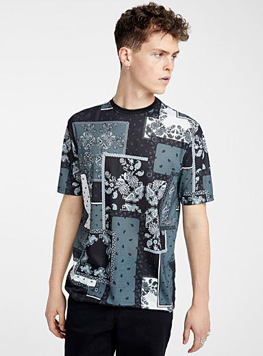 Recycled polyester mosaic T-shirt