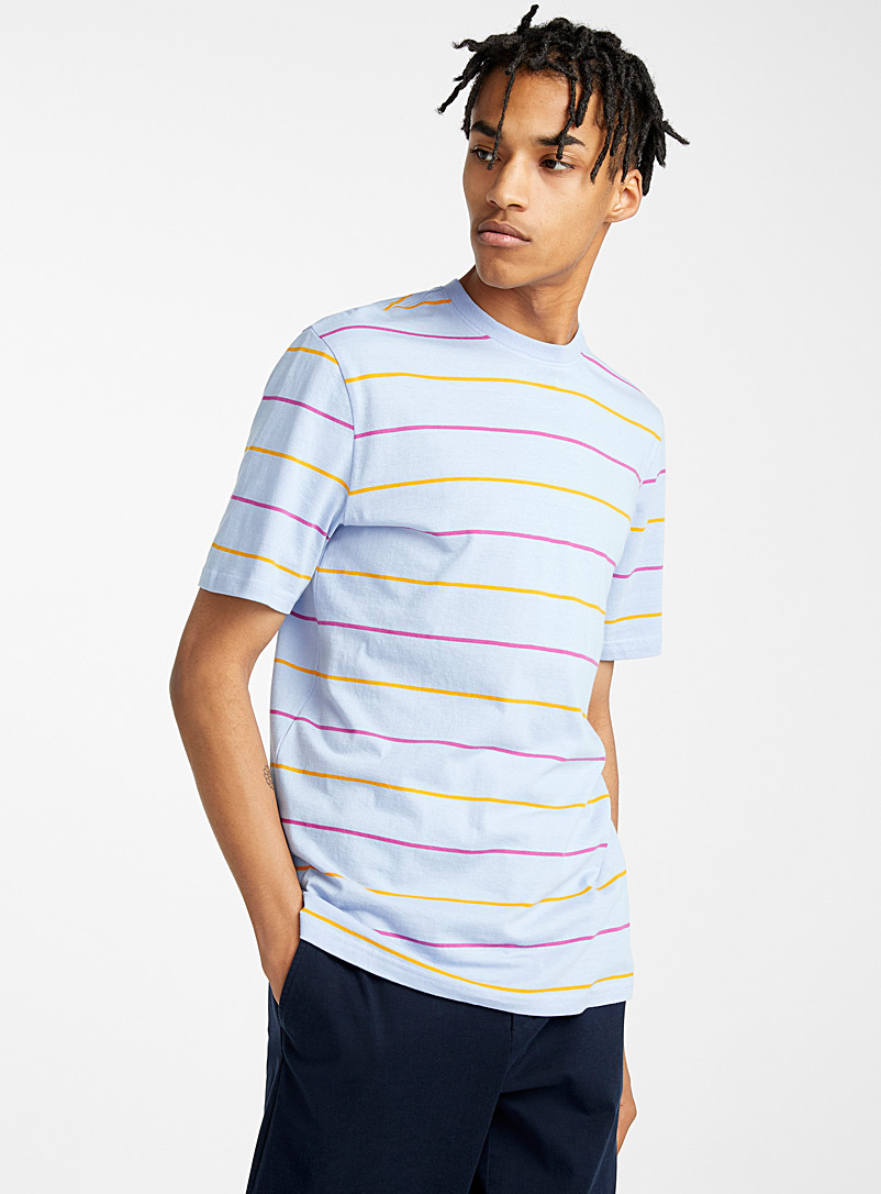 Djab Baby Blue Organic cotton colourful-stripe T-shirt for men