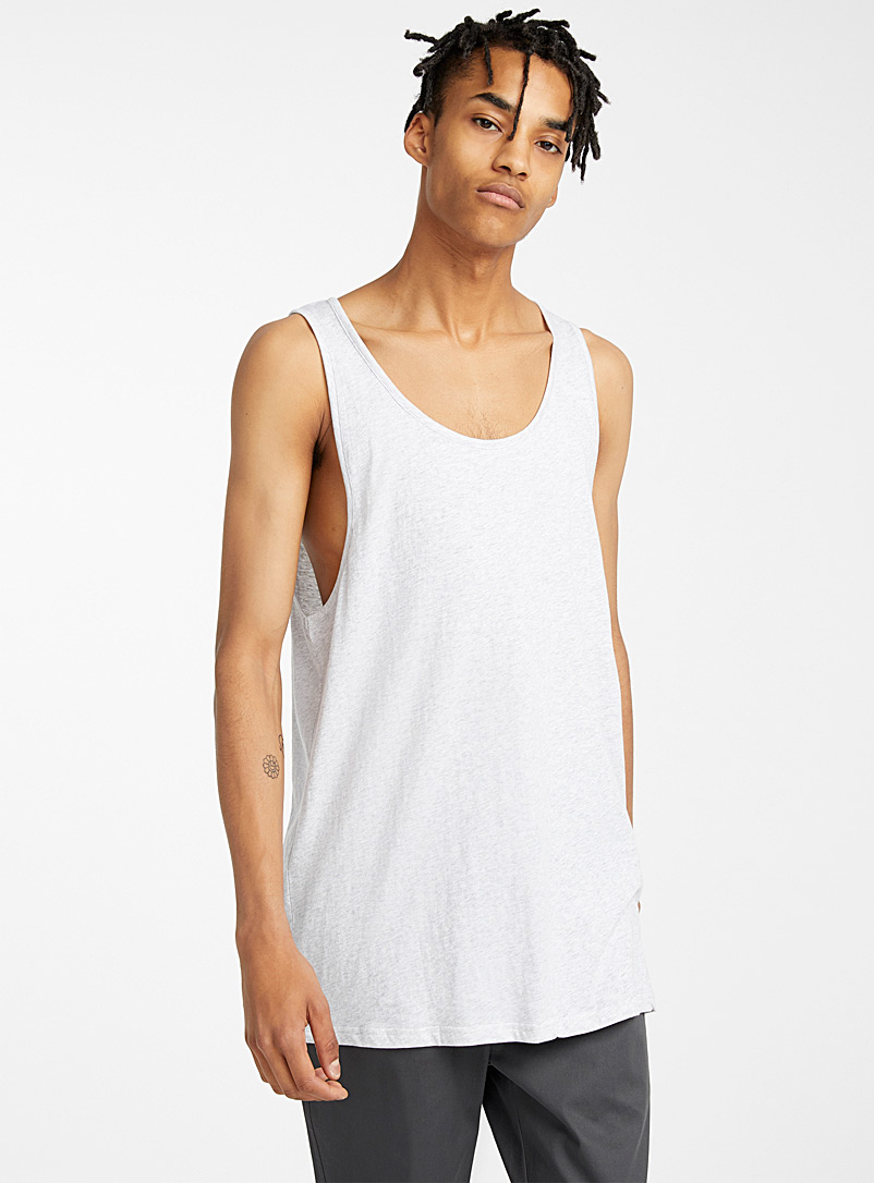 Djab Light Grey Essential organic cotton tank for men