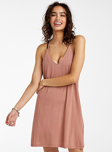 Racerback spaghetti-strap dress