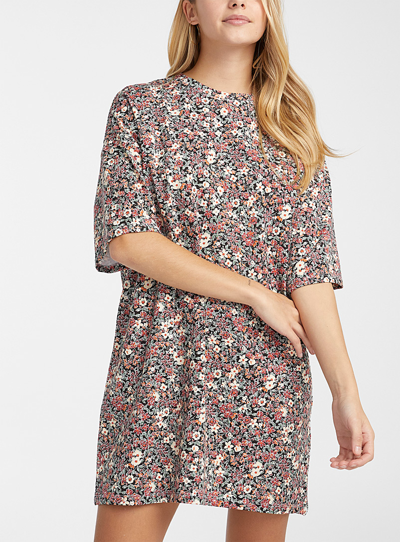 Basic loose organic cotton T-shirt dress