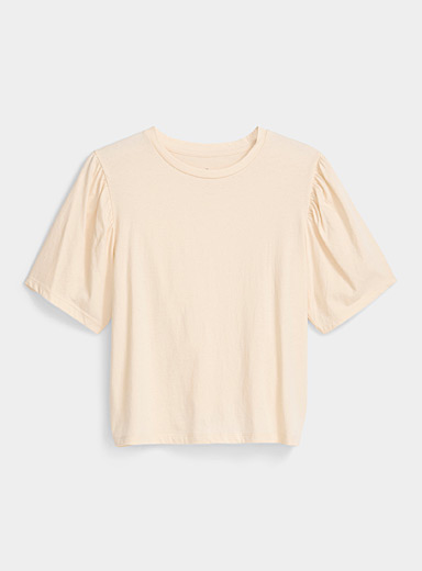 Organic cotton puff sleeve tee