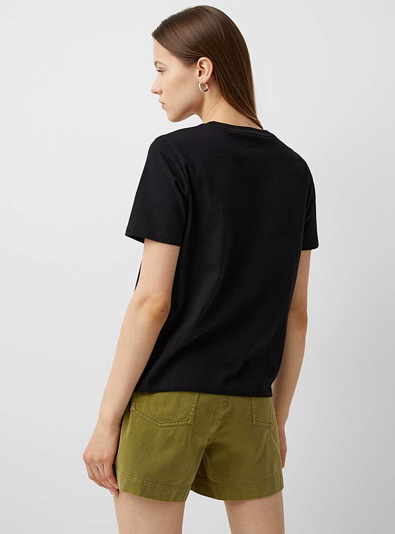 Twik Green Loose recycled cotton tee for women