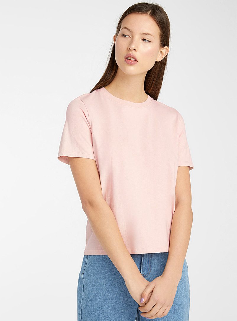 Twik Peach Loose recycled cotton tee for women