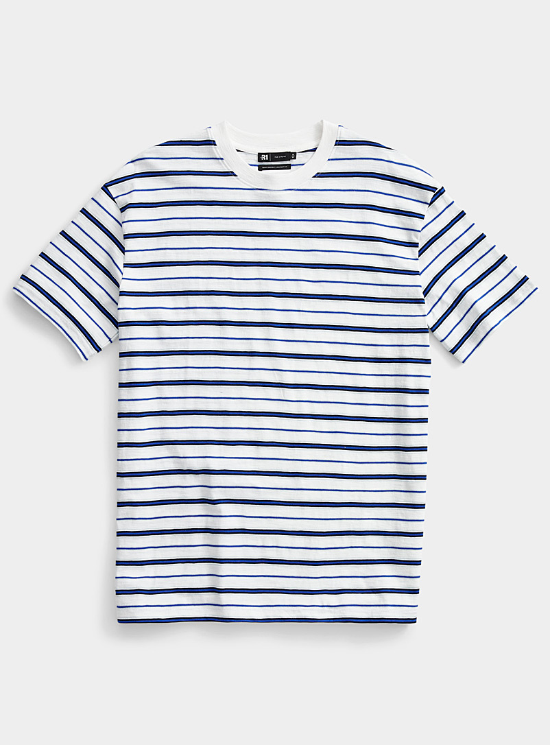 Le 31 White Graphic-stripe T-shirt for men