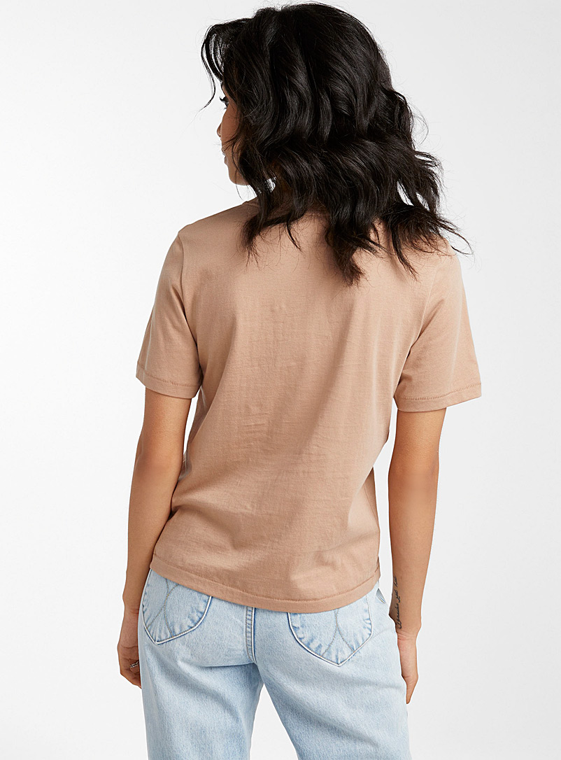 Icône Sand Embroidered pattern organic cotton tee for women