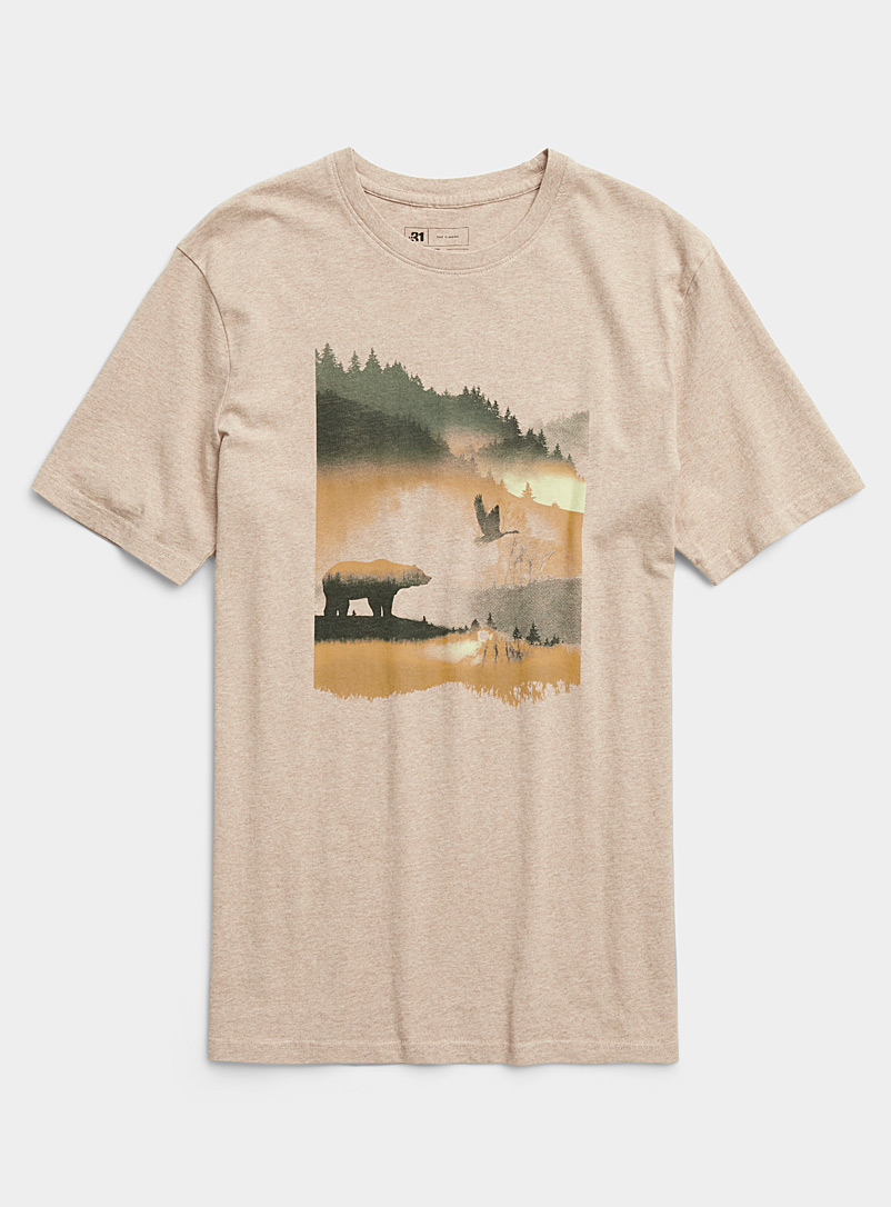 Le 31 Fawn Nature passion T-shirt for men