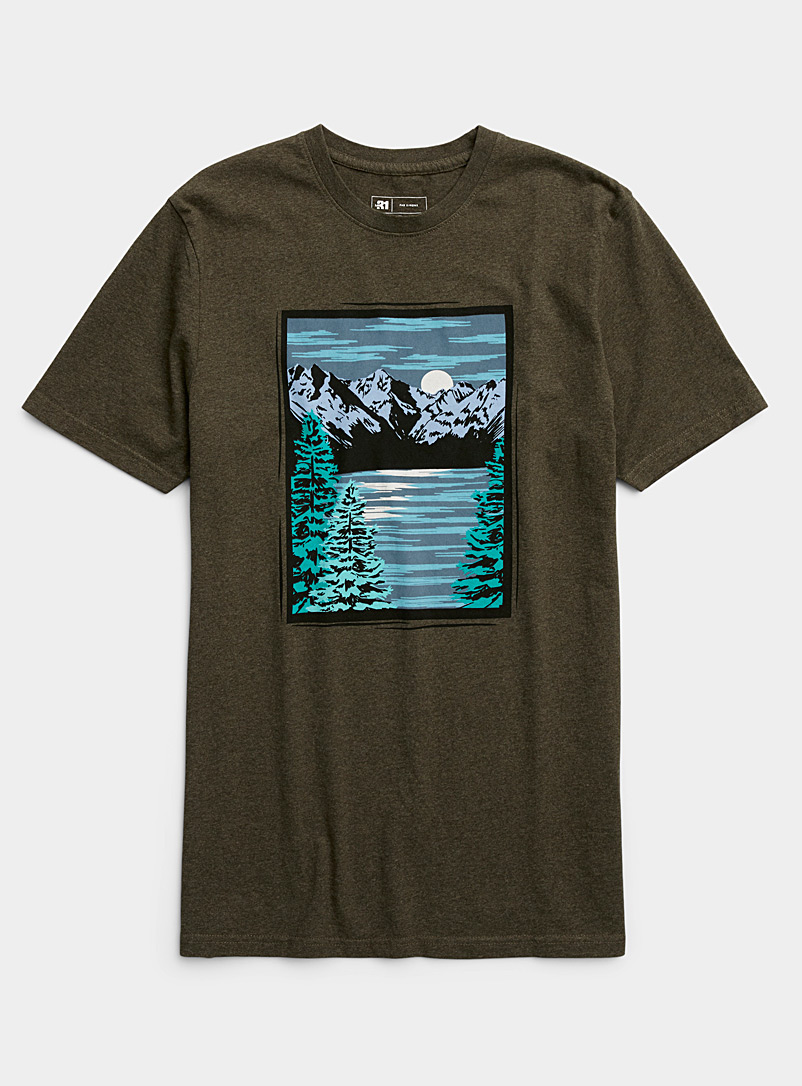Le 31 Mossy Green Nature passion T-shirt for men