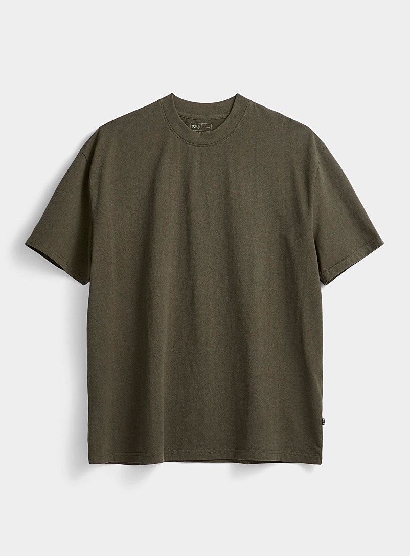 Djab Mossy Green Recycled cotton boxy T-shirt for men