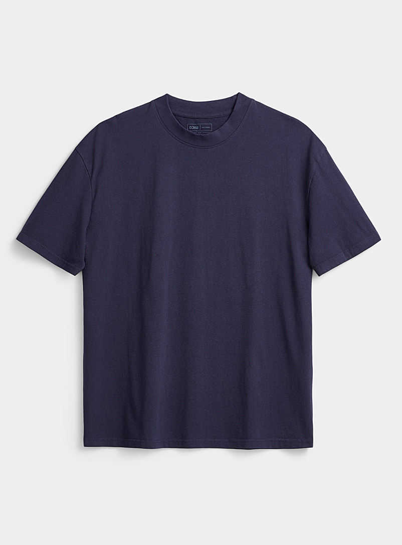 Djab Marine Blue Basic boxy T-shirt for men