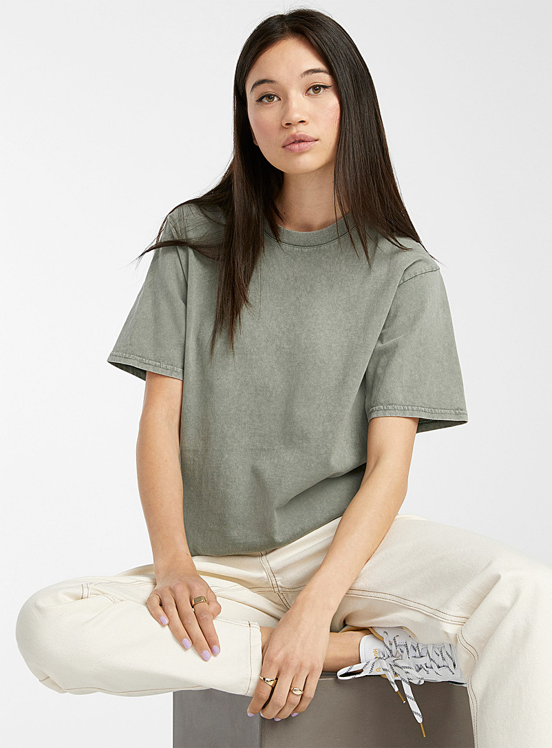 Twik Assorted Organic cotton faded tee for women