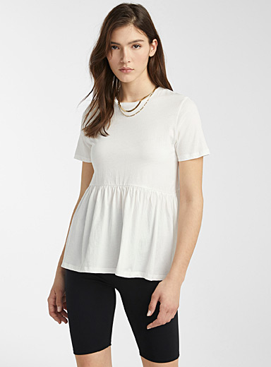 Organic cotton babydoll T-shirt