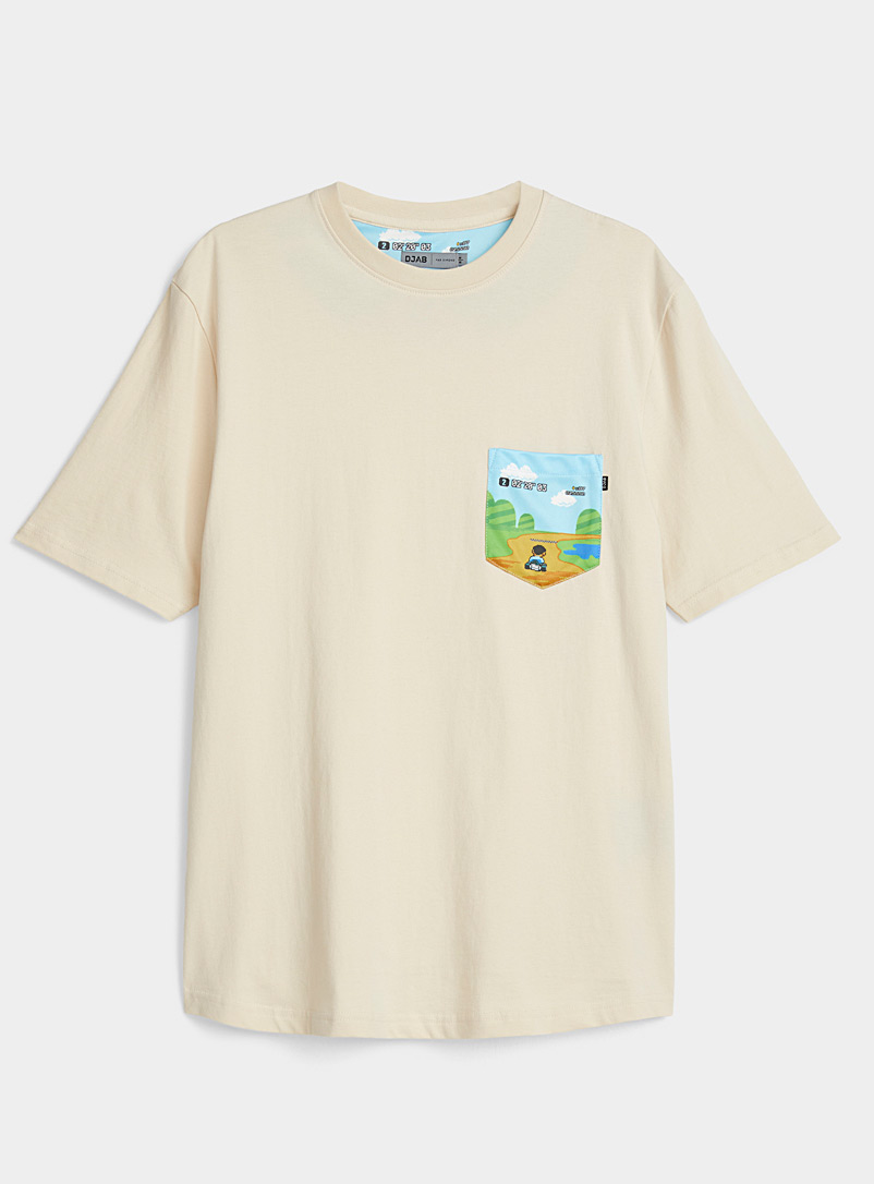 Graphic-pocket organic cotton T-shirt