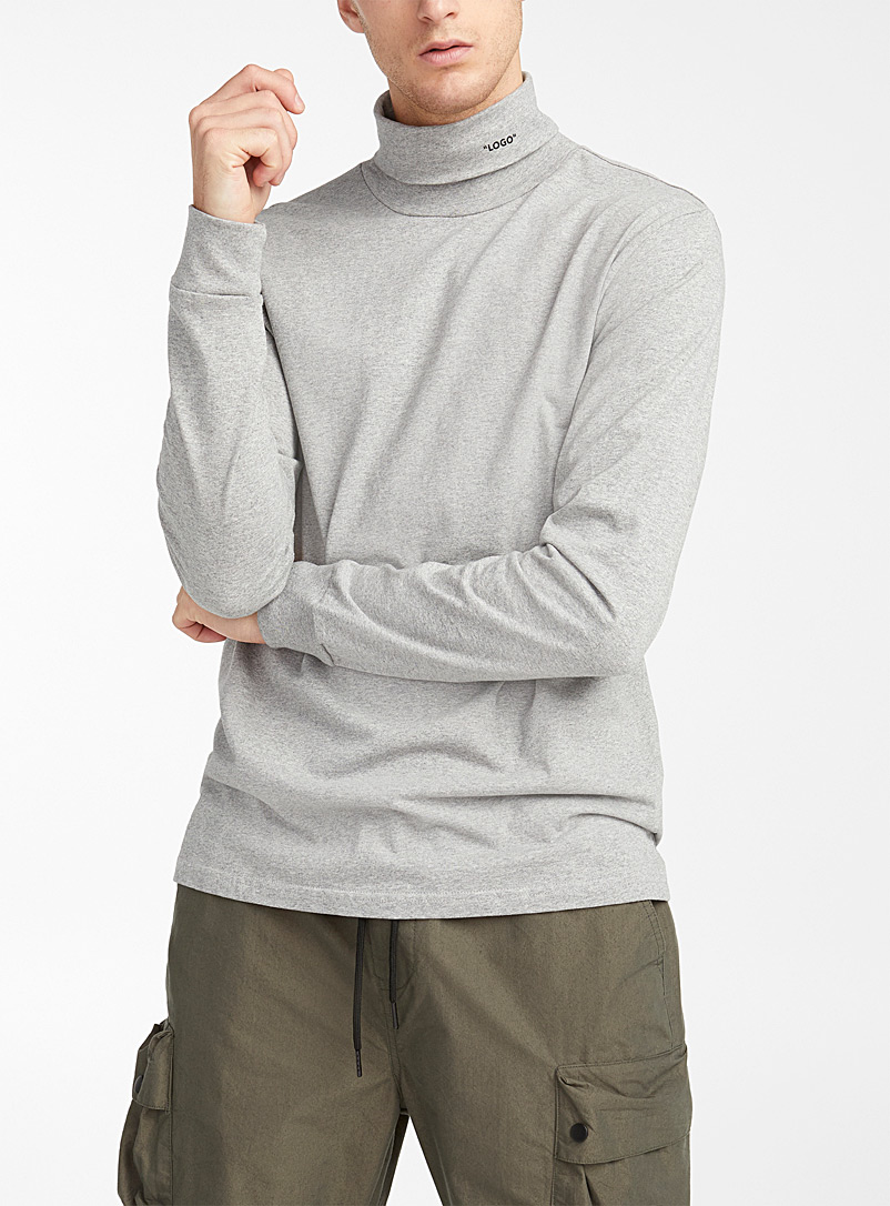 Djab Grey Organic cotton autonymous turtleneck for men