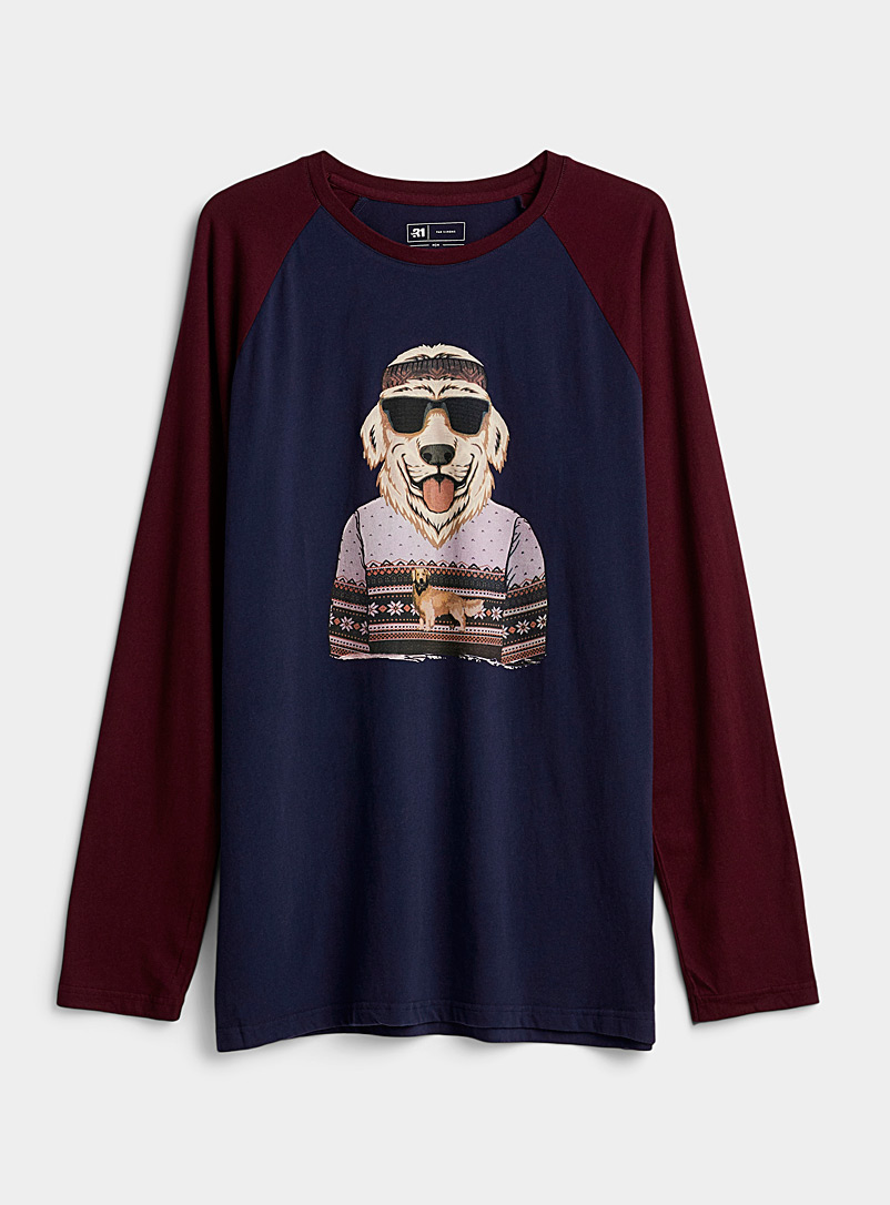 Organic cotton clothed animal lounge T-shirt