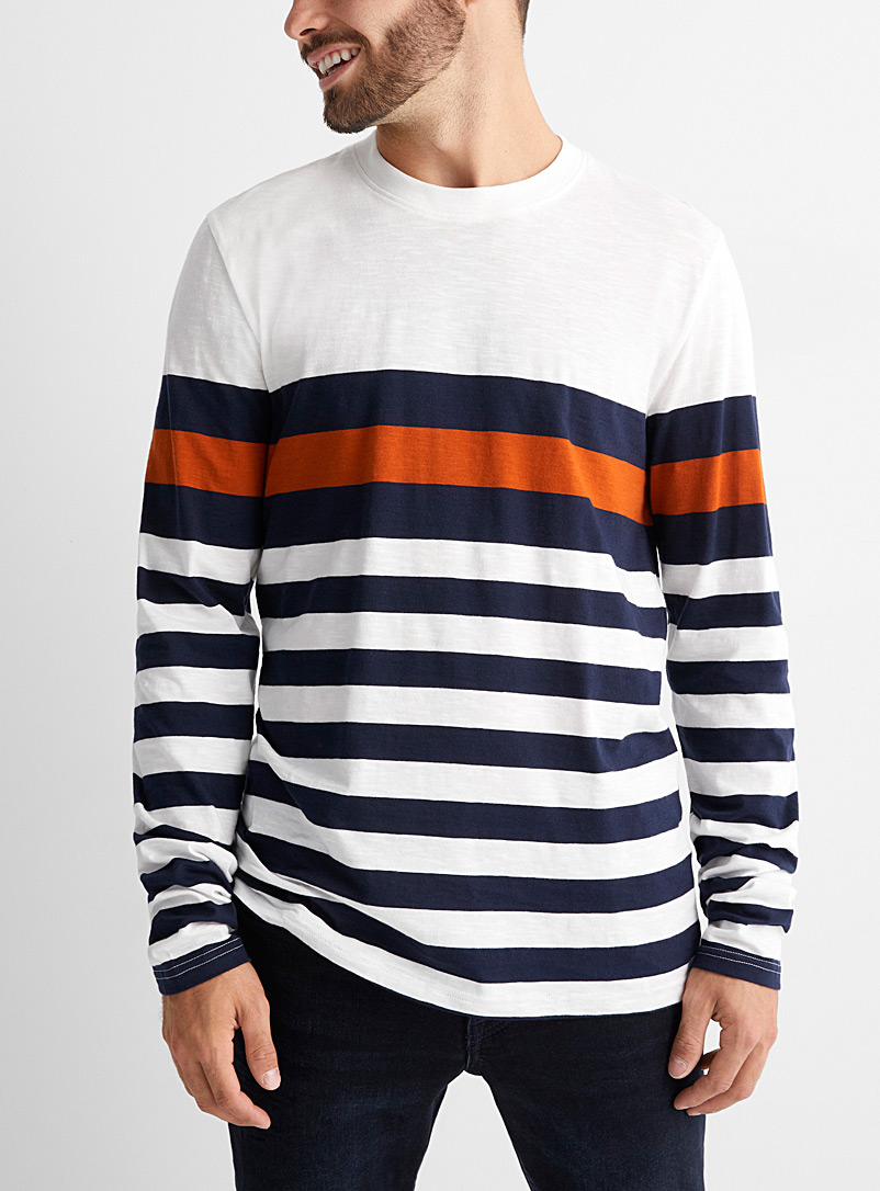 Organic cotton club stripe T-shirt