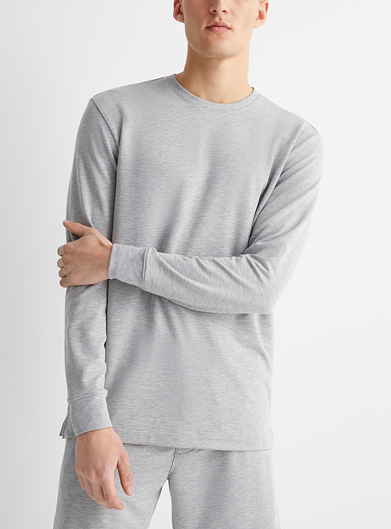 Recycled polyester crew-neck lounge T-shirt